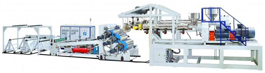 Plastic Sheet, Volumetric 3 Layer Sheet Co-extrusion Line